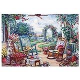R-Cors Rétro Peinture de Paysage Puzzle - - Hiboux - 1000 Pièces Jeu De RéFlexion Classique Relâcher la Pression