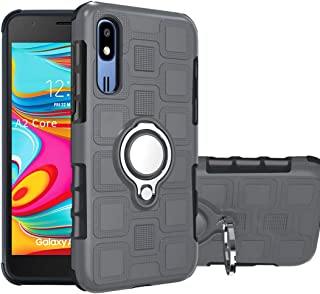 Samsung Galaxy A2 Core Case Samsung Galaxy A2 Core Case Cover ZYZX Protective 360 Metal Rotating Ring Kickstand Holder Gri...
