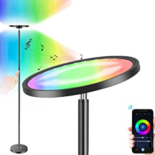 چراغ طبقه هوشمند Boxlood با لامپهای هوشمند Google Torchiere LED 25W 2000LM Super Bright Sky ، 66 اینچ ، 16 میلیون تغییر رنگ RGBCW ، صحنه های DIY ، قابل تنظیم برای اتاق خواب اتاق اتاق خواب