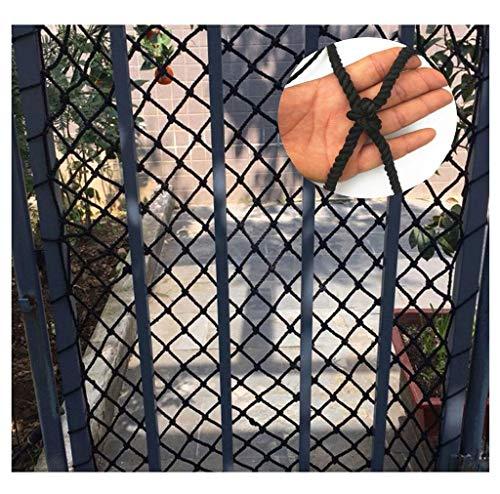 HTL Seguridad Duradera Red de Protección Infantil Neto Red Protectora Decoración Neto de Salida Negro Nylon de la Cuerda Neto, Decoración Red de Seguridad Balcón Cuerda Neto de Obstáculos Neto Escale