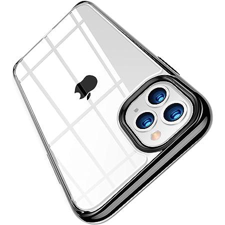 TORRAS 高耐衝撃 iPhone 11 Pro 用ケース 高透明 米軍MIL規格取得 非ニュートン流体 クリア 10倍黄変防止 レンズ保護 滑り防止 5.8インチ アイフォン11 Pro用 カバー ブラック