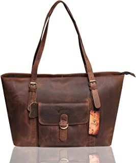 VINTAGE9 Women's Leather Handbag - Canada Bay (Muscat)