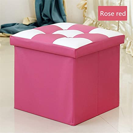 MxZas Durable Foldable Pop Room Tidy Storage Chest Toy Box For Girls And Boys Perfect For Household Storage  Fabrics Toys Easy Assemble  Color Rose red  Size Free size
