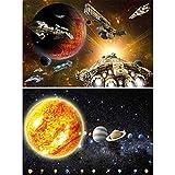 GREAT ART Set de 2 carteles habitación niños | Din A2 - 42 x 59,4 cm | misión nave espaciales y sistema solar astronautas ciencia ficción | Photo Imagen de Pared Póster Papel