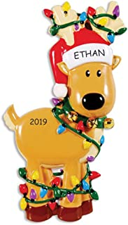 DIBSIES Personalization Station Personalized Winter Fun Christmas Ornament (Reindeer)
