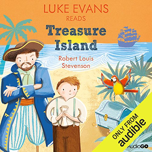 Luke Evans reads Treasure Island audiobook cover art