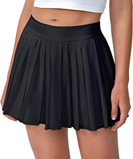 Women's 13in Pleated Tennis Skirt-Flowy Athletic...