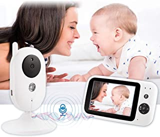 Baby Monitor with Camera Baby Video Camera Wireless 3.5 Inch LCD Lullaby Temperature Monitor Suitable for Elderly Pets, Do...