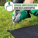 GardenGloss 25 Premium Anti-ROST Erdanker aus Stahl - Stabile Bodenanker für Unkrautvlies, Gartenvlies, Zaun & Camping - 150 MM Lang, 30 MM Breit, Ø 3 MM - 2