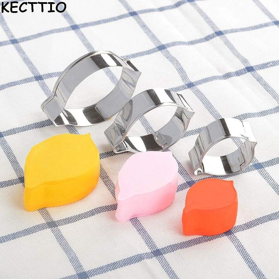 発見する故意の抵抗力があるKECTTIO 3Pステンレス鋼のケーキキッズクッキーモールドレモンペットクリエイティブ新形状:3Pを