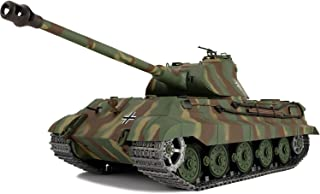 Modified Edition 1/16 2.4ghz Remote Control German King Tiger Porsche Tank Model(360-Degree Rotating Turret)(Steel Gear Gearbox)(3800mah Battery)(Metal Tracks &Sprocket Wheel & Idle Wheel)