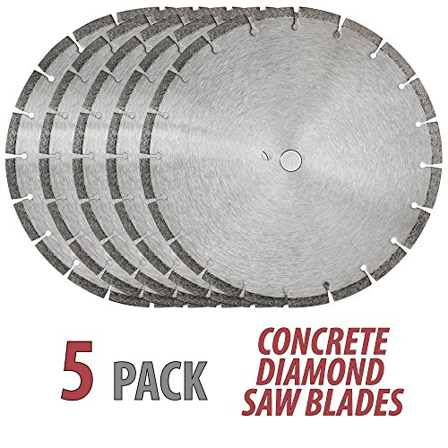14' Sintered 10mm Wet/Dry General Purpose Concrete Diamond Saw Blade (5 Pack)