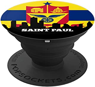 Saint Paul Minnesota MN Group City Flag Patriotic - PopSockets Grip and Stand for Phones and Tablets
