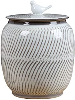 Jueven Adult Urn, Human Ashes, Heavenly Peace Lovely Dark Adult Cremation Urn for Human Ashes, Handmade Ceramics, Chinese Style Cremation Urn for Human Or Pet Ashes