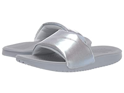 Nike Kids Kawa Slide Metallic (Little Kid/Big Kid) (Wolf Grey/Wolf Grey/Metallic Platinum) Girls Shoes