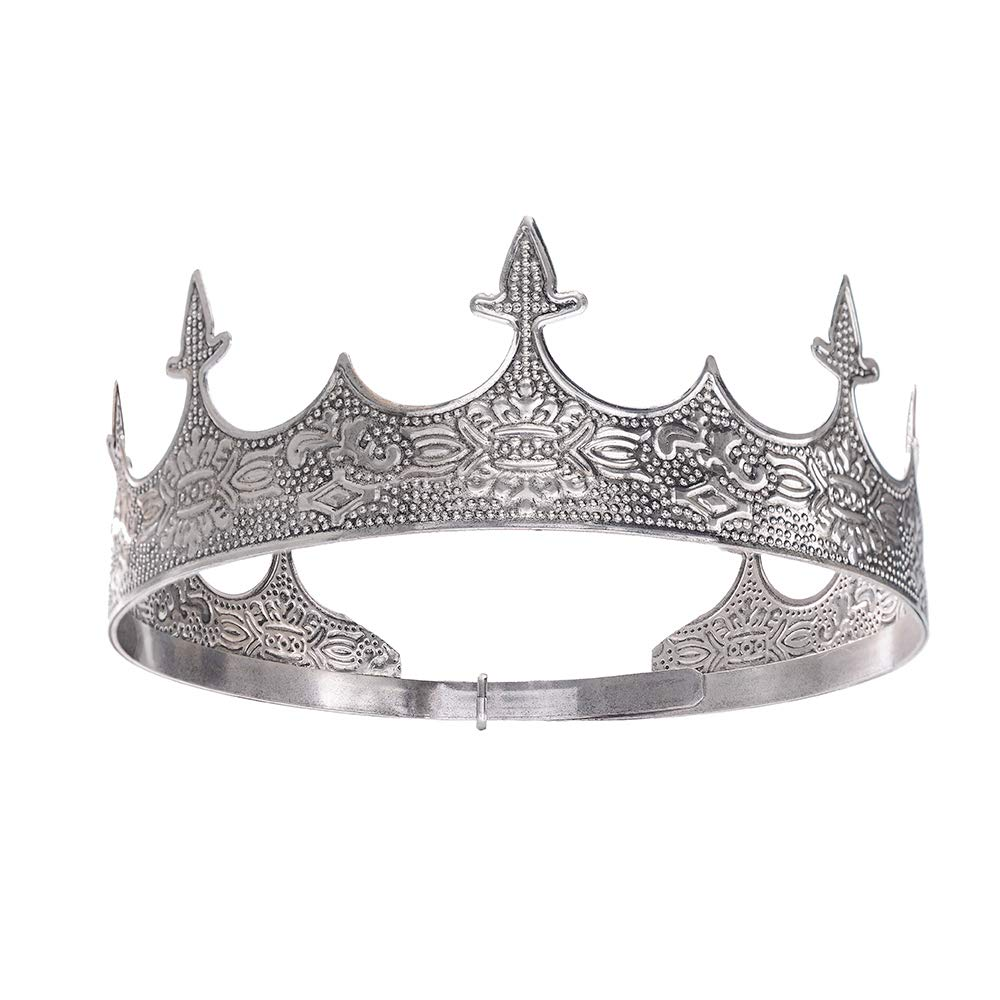 Antique Silver Imperial Medieval Full Free shipping New Prom Adju Party Luxury King Round