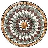 Wohaga® Mosaik Gartentisch rund Ø70cm Mosaiktisch Beistelltisch Bistrotisch Balkontisch - 5