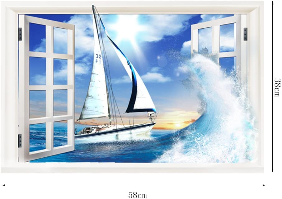 RYGHEWE 3D Wall Stickers - Outside The Sale item store Window Scenery