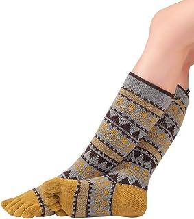 Knitido, Plus Biwa, Calcetines de Dedos Largos Mujer, Diseño invernal