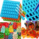 Candy/Ice Mold with Dropper, Elevin(TM)  53 Cavity Silicone Gummy Bear Chocolate Mold Candy Maker Ice Tray Jelly Moulds