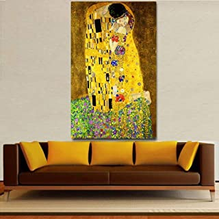 Canvas Painting Decorative Paintings Figure Painting Kiss Canvas Paintings Print on Canvas Wall Art Picture for Living Roo...