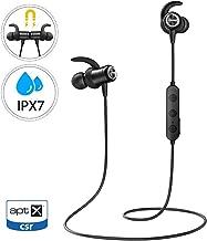 Mpow S11 Auriculares Bluetooth 5.0, Auricular aptX Deporte In Ear Inalámbrico IPX7 Impermeable con HD Audio, Auriculares Deportivos magnéticos Micrófono Deporte Correr para Android iPhone PC etc