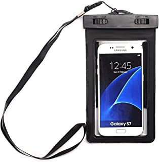 """(2Pack) Universal Waterproof Case, Asstar Cellphone Dry Bag Pouch Dustproof, Snow proof Dry Bag for iPhone 7 6s 6 Plus, Galaxy s8 s7 s6 edge, Note 5, LG G6 G5,Sony Nokia up to 6.0"""" diagonal"""