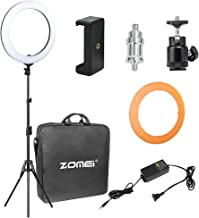 """ZOMEi 18"""" Ring Light with Stand for Makeup Lighting, YouTube, Self-Portrait Video Shooting"""