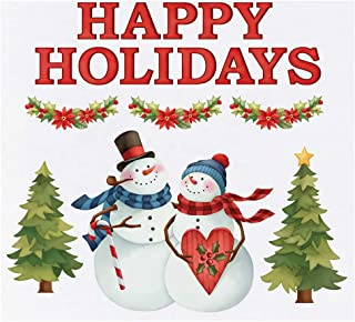 Collections Etc Snow Couple Holiday Greetings Garage Magnets