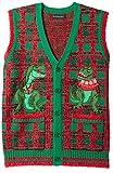 Blizzard Bay Men's Ugly Christmas Sweater Vest, Dark Green, Large