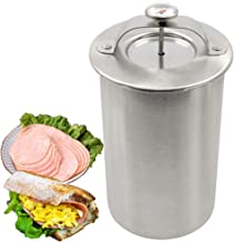 Ham Maker, Stainless Steel Ham Meat Press with Thermometer, For Sandwich and Homemade Healthy Deli Meat Recipe, Dishwasher Safe
