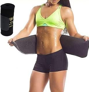 Nosubo Sweat Waist Trainer & Trimmer Belt for Men & Women, Adjustable Premium Slimmer Trimmer for Back Support, Weight Loss Wrap, Sweat Enhancer, Body Slimmer