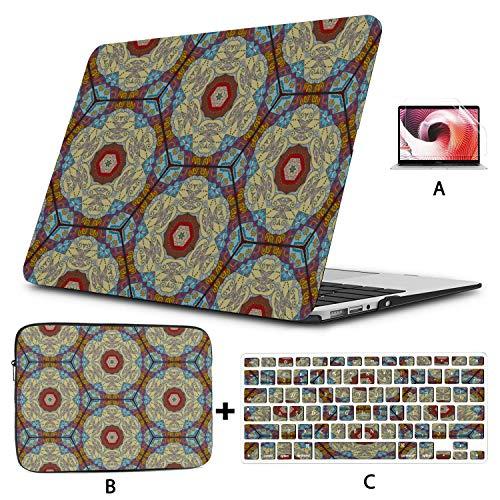 Estuche para Macbook Colorido Estilo de Mosaico sin Costuras Resumen A1466 Estuche Hard Shell Mac Air 11'/ 13' Pro 13'/ 15' / 16'con Funda para portátil para Macbook Versión 2008-2020