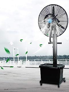 Ventilador industrial silencioso, pedestal de servicio pesado Ventilador de metal oscilante potente y silencioso, negro
