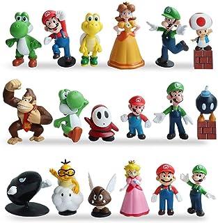 Miotlsy Super Mario Figures 18pcs / Set Super Mario Toys Figuras de Mario y Luigi Figuras de acción de Yoshi y Mario Bros ...