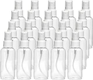 20 PCS 30 ml(1oz) Clear Plastic Mist Spray bottle,Transparent Travel Bottle,Portable Refillable Spray Sprayer Bottle for Travel, Cleaning, Essential Oils
