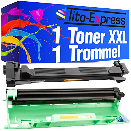 Tito-Express PlatinumSerie Toner & Drum XXL kompatibel mit Brother DR-1050 HL-1112 Series TN-1050 MFC-1810 MFC-1815 MFC-1910W MFC-1911NW