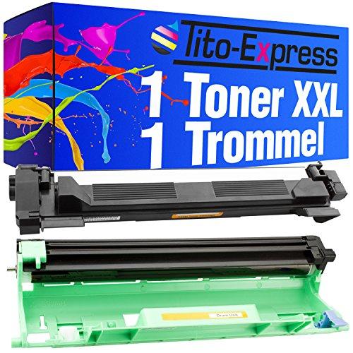 Tito-Express PlatinumSerie Toner-Patrone & Bildtrommel XXL kompatibel mit Brother DR-1050 TN-1050 HL-1110 Series HL-1212W HL-1112 DCP-1510 DCP-1512 DCP-1512A