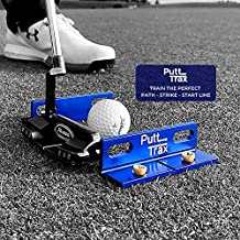 Putting Gate Practice Tool- Our Putting Aid Improves Your Alignment, Putter Path & Start Line. Putt Trax Golf Training Aid Is Made From High Grade Aluminium & Also Includes a Protective Carry Case.