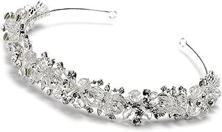 USABride Swarovski Crystal & Rhinestone Cluster Bridal Headband Wedding Tiara 3069