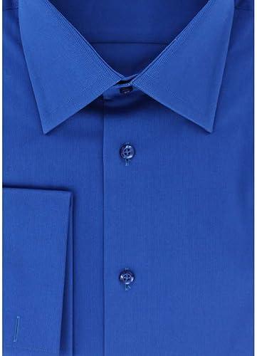 Cotton Park - Chemise Classique piqué Bleu Poignets Mousquetaires - Homme