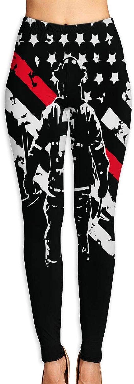 JHWJ@KU Womens Yoga Pants Firefighter Thin Red Line Comfy Capris Leggings
