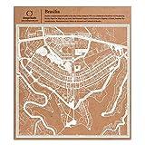 Brasília Scherenschnitt Karte, Weiß 30x30 cm Papierkunst