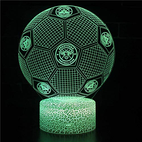 certainPL Football Boy,3D Lamp LED Night Light 7 Color Change Touch Mood Lamp Desk Decoration Lamps Birthday Gift with Acrylic Flat