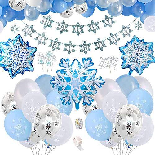 Anyingkai Frozen Cumpleaños Decoracion,Cumpleaños Frozen Decoracion,Frozen Fiesta Infantil,Cumpleaños Frozen,Globos Azules,Frozen Fiesta,Frozen Kit