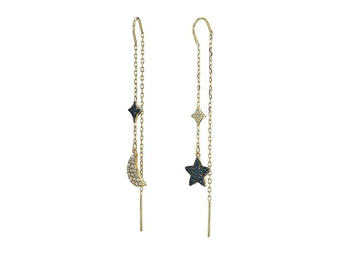 c41d66baa Swarovski Duo Moon Pierced Earrings at Zappos.com