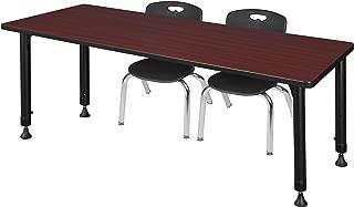 Regency MT7230MHAPBK45BK Kee Height Adjustable Classroom Table Set with Two 12