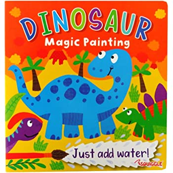 2 x Paint With Water A4 Book /& Brush Colouring Book Magic Paints Just add Water