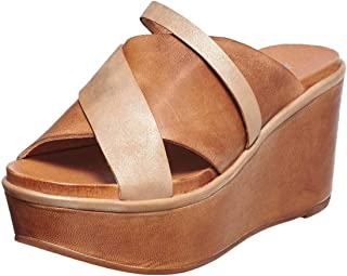 Antelope Women's 806 Leather Two Tone Hi Slide Sandals