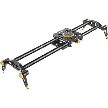 Neewer Binario Slider Dolly Stabilizzatore a Rotaia 60cm in Fibra al Carbonio con 6 Cuscinetti per Produzioni di Filmati via Reflex Digitali Videocamere, Massima Capacità di Carico 8KG